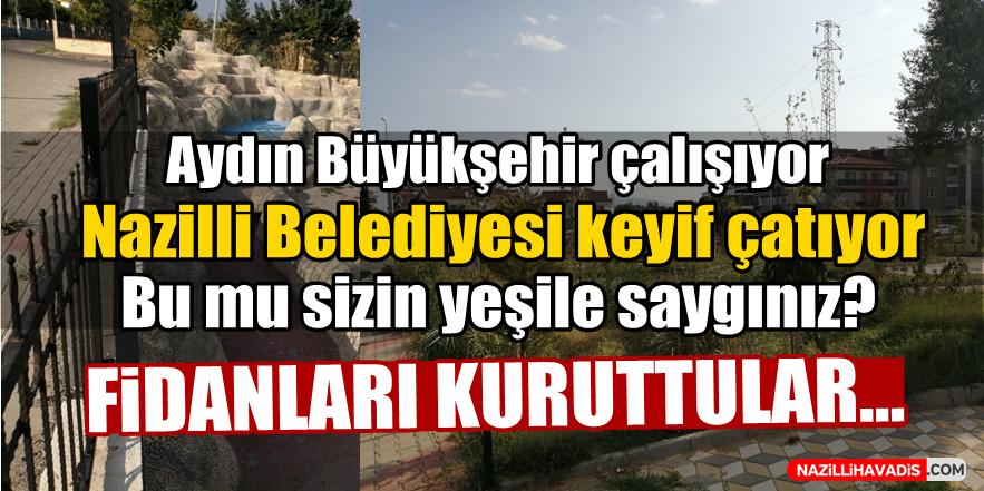 Aydın Büyükşehir çalışıyor, Nazilli Belediyesi keyif çatıyor!