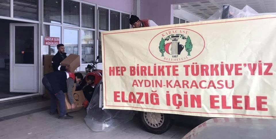 KARACASU YARDIM ELİNİ ELAZIĞ'A UZATTI