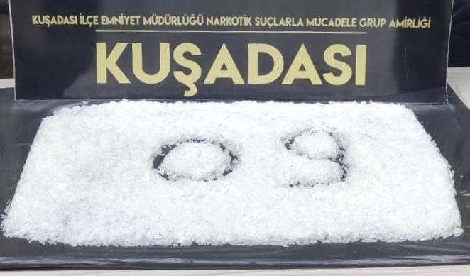 Aydın'da otomobilin hava filtresinde uyuşturucu ele geçirildi