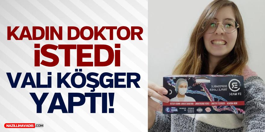 Vali Köşger, Kadın Doktorun Maske İsteğini Geri Çevirmedi!