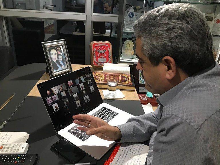 Başkan Alıcık, telekonferans yöntemiyle toplantı yaptı
