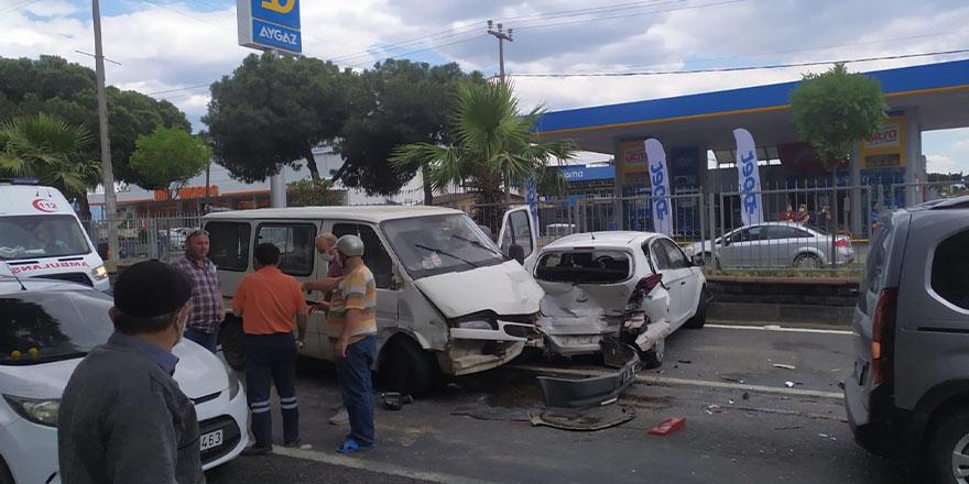 Nazilli'de Zincirleme Kaza: 1 Yaralı