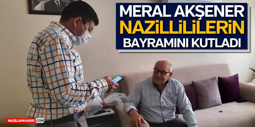 İYİ Parti Lideri Akşener, Nazillililerin bayramını kutladı