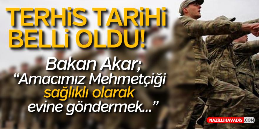 TERHİS TARİHİ BELLİ OLDU!