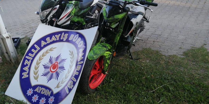 EFELER'DE ÇALINAN MOTORLAR NAZİLLİ'DE ELE GEÇİRİLDİ