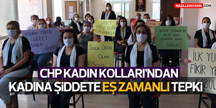 CHP KADIN KOLLARI'NDAN KADINA ŞİDDETE EŞ ZAMANLI TEPKİ