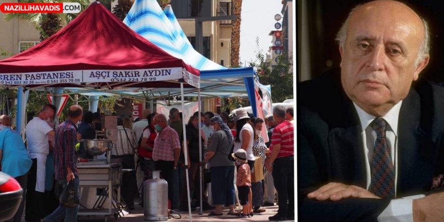 Nazilli'de  9. Cumhurbaşkanı Demirel'in anısına lokma dağıtıldı