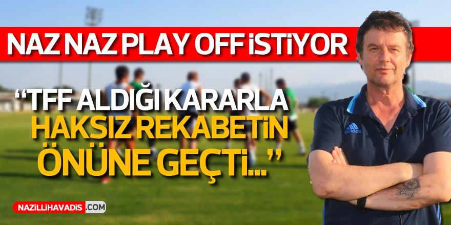 Nazilli Belediyespor play off'u istiyor