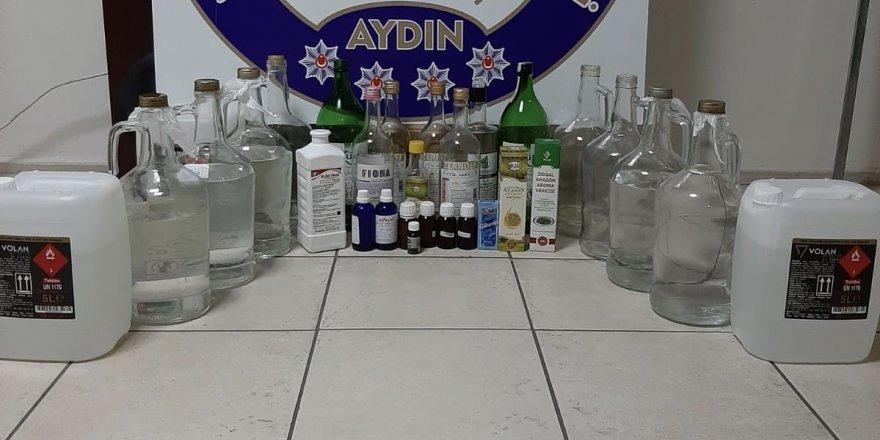 Nazilli'de erotik işyerinde kaçak içkiler ele geçirildi