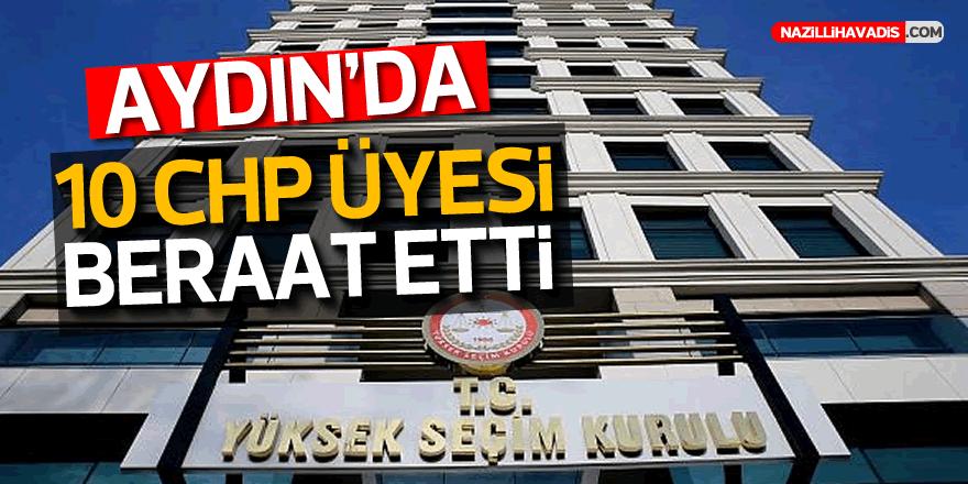 Aydın'da 10 CHP üyesi beraat etti