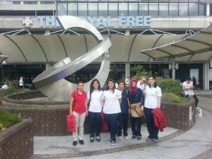 Nazilli'li genç sağlıkçılar Türkiye'ye döndü