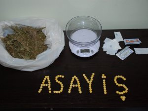230 gram esrar ve 99 adet extacy hap ele geçirildi