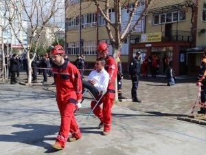 Aydın'da deprem tatbikatı düzenlendi
