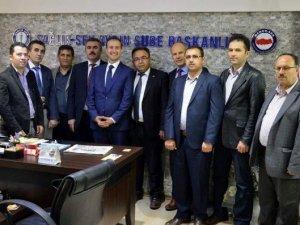 AK Parti'li Erürker Aydın Memur-Sen'i ziyaret etti