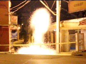 Nazilli'de iş yerine el bombalı saldırı girişimi