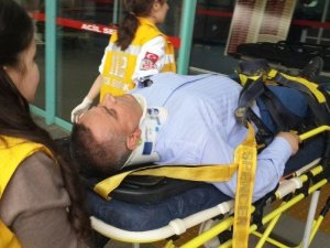 Mahkum getiren  iki polis kazada yaralandı