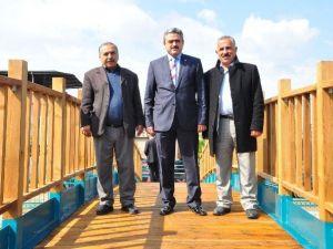Nazilli'de İki Mahalle Asma Köprüyle Bağlandı