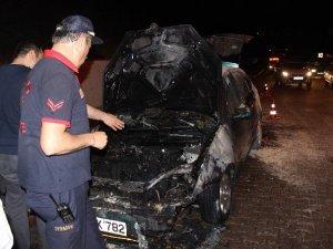 Aydın'da Hareket Halindeki Otomobil Yandı