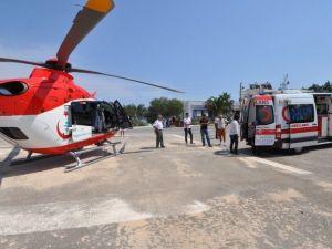 Bodrum'da Erken Doğan Bebek Ambulans Helikopterle İzmir' Sevk Edildi