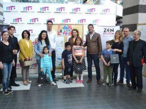 Forum Kayseri'de Çocuklar Resim Yaptı Anneler Sevindi