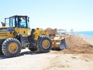 Manavgat Boğaz Sahili Yaza Hazırlanıyor