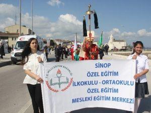 Sinop'ta Engelliler Haftası Yürüyüşü