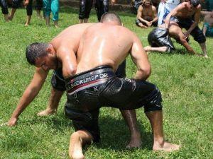 Bodrum Çömlekçi'de Yağlı Güreş Heyecanı Yaşandı