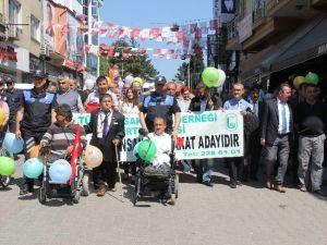 Bartın'da Engelliler Haftası Yürüyüşü