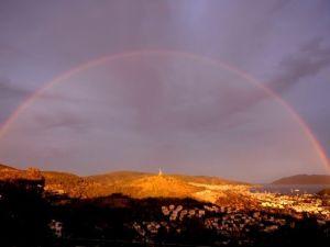 Bodrum'da Eşsiz Gökkuşağı Manzarası