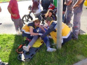 1 Saat Önce Aldığı Motosikletle Kaza Yaptı