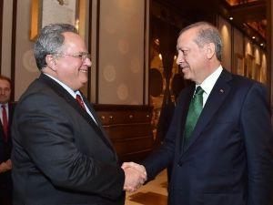 Cumhurbaşkanı Erdoğan, Yunanistan Dışişleri Bakanı Kotsiyas'ı Kabul Etti