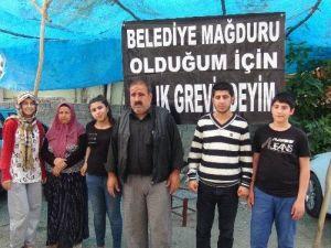 Belediye 130 Bin TL Ceza Kesince Evinin Önünde Açlık Grevine Başladı