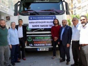 Bursa Esnafından Suriye'ye Yardım Tırı