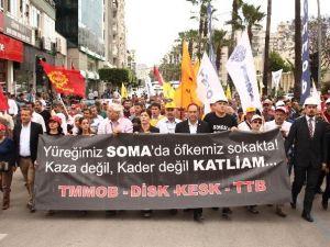 Soma'da Hayatını Kaybeden Madenciler Adana'da Anıldı