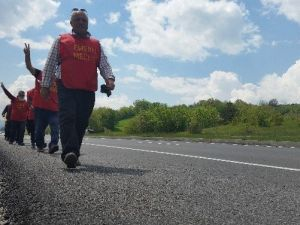 İstanbul'dan Ankara'ya Yürüyen Emekliler Bolu'ya Ulaştı