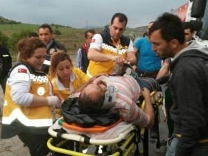 Tanker Tır'a Çarptı: 1 Yaralı
