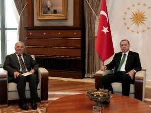Cumhurbaşkanı Erdoğan, Uyuşmazlık Mahkemesi Başkanı Özgüldür'ü Kabul Etti