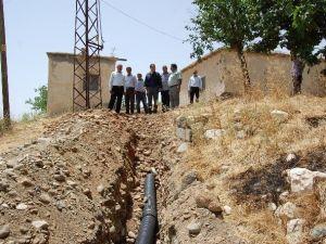Samsat'ın Çiçek Köyüne Kanalizasyon Sistemi Kuruluyor