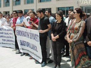 Adalet Sarayı Önünde Protesto