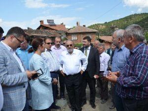 AK Parti Milletvekilleri'nden Maksutlu'da İnceleme