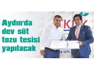 Aydın'da dev süt tozu tesisi yapılacak