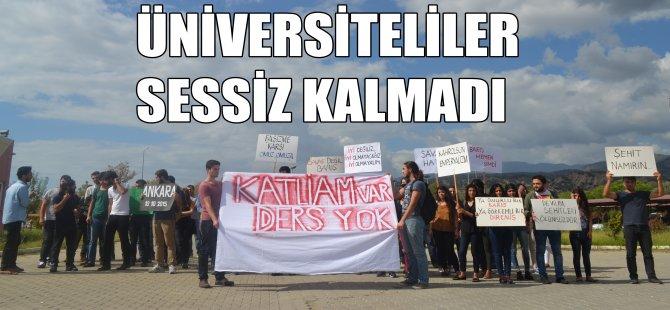 Üniversiteliler Sessiz Kalmadı