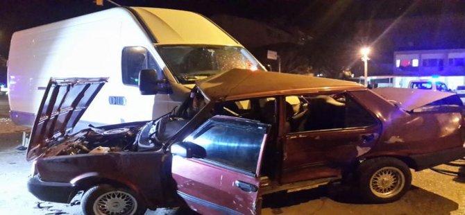 Buharkent'te zincirleme kaza