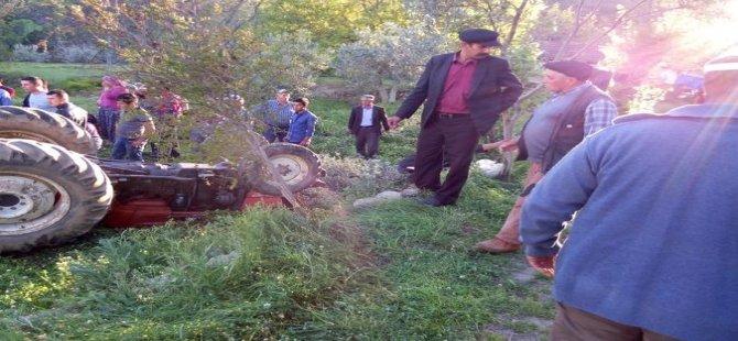 Bozdoğan'da traktör kazası: 1 ağır yaralı
