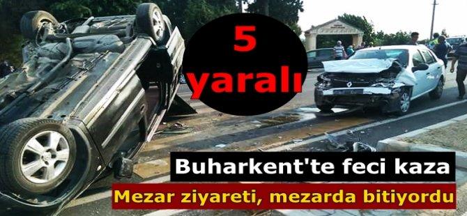 Buharkent'te kaza; 5 yaralı