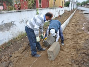 Nazilli Belediyesi Dallıca'da Üst Yapı Çalışması Yapıyor