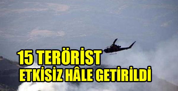 """Tunceli Valiliği'nden Açıklama: """"15 terörist etkisiz hale getirildi."""""""
