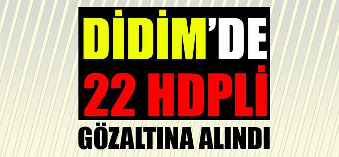 Didim'de 22 HDPli Gözaltına Alındı