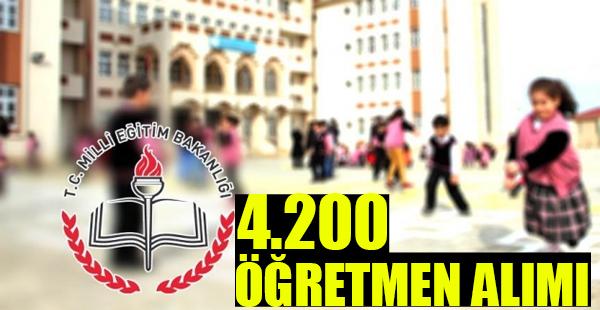 4 bin 200 Öğretmen Alımı Yapılacak