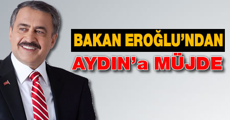 Bakan Eroğlu'ndan Aydın'a müjde!